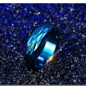 New Women men stainless Steel band fashion ring